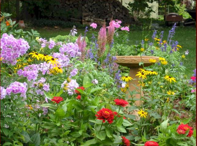 July garden tips polk county for Spring garden designs